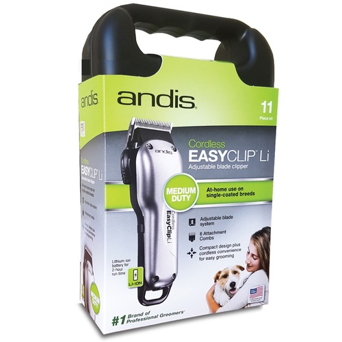Andis Easy Clip Li Adjustable Blade Cordless Dog Clipper