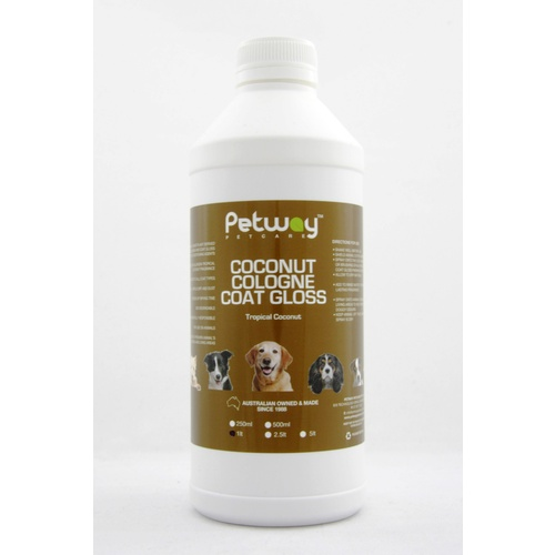 PETWAY PETCARE COCONUT COLOGNE COAT GLOSS - 1 LITRE