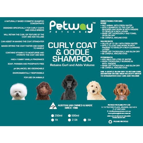 PETWAY PETCARE Curly Coat and Oodle Shampoo 1 litre