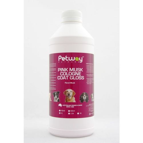 PETWAY PETCARE PINK MUSK COLOGNE COAT GLOSS - 1 LITRE