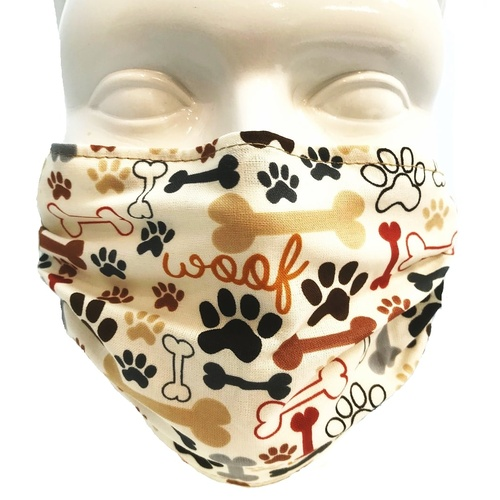 Breathe Healthy Mask - Dog Bones & Paw Prints