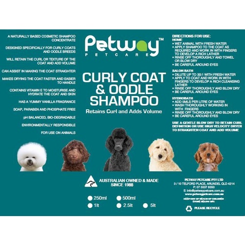 PETWAY PETCARE Curly Coat and Oodle Shampoo