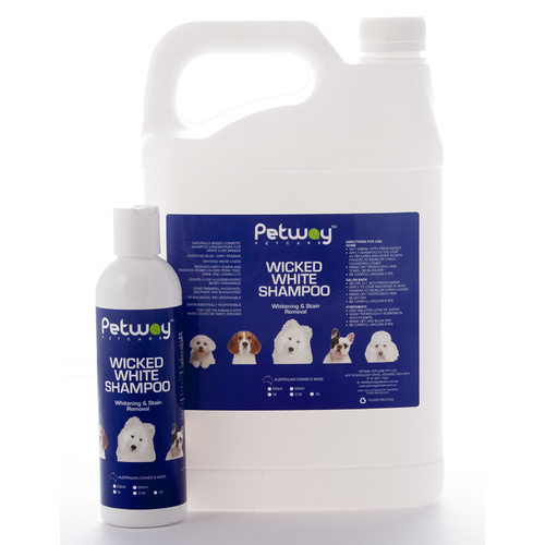 PETWAY PETCARE Wicked White Whitening & Stain Removal Shampoo